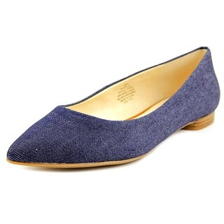 Nine West Onlee Pointed Toe Canvas Flats
