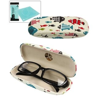 JAVOedge Fish Pattern Fabric Eyeglasses Case
