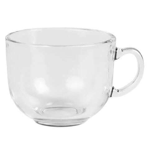 13.5 Oz. Oversized Dishwasher Safe Glass Mug, Clear