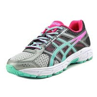 Asics Gel-Contend 4 GS Youth  Round Toe Synthetic Gray Running Shoe