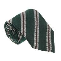 Missoni U5145 Green/Grey Regimental 100% Silk Tie - 60-3