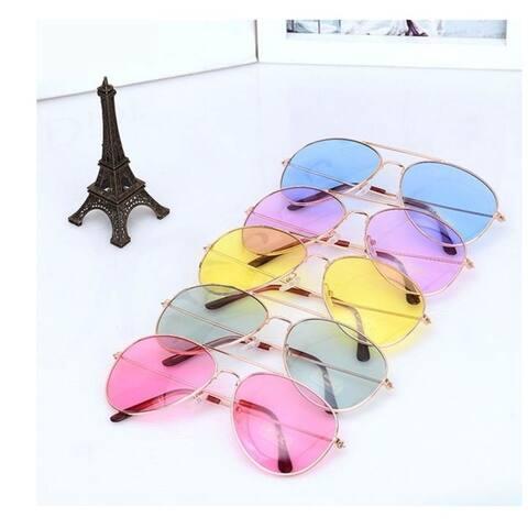 Unisex Sunglasses UV400 Outdoor Sunglasses Colorful Lens Metal Frame Glasses