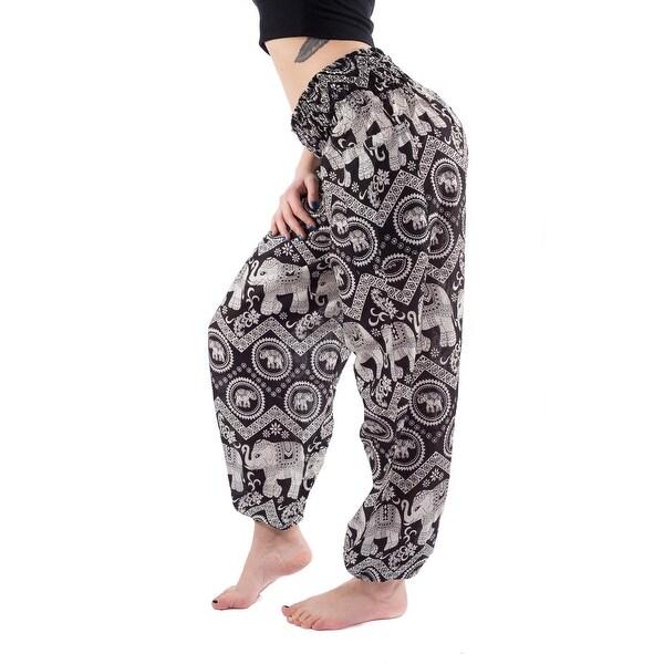 Women Wide Waist Elephant Boho Harem Yoga Baggy Pants