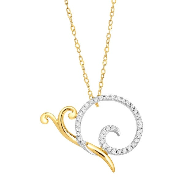 1/10 ct Diamond Snail Necklace in 10K Gold