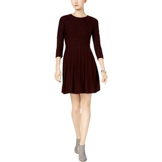 Jessica Howard Womens Sweaterdress Fit & Flare Patterned Knit