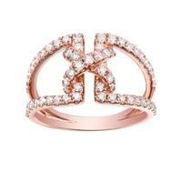 Fabulous 0.85 Carat G-H/SI1 Round Brilliant Cut Natural Diamond Promise Ring - White G-H