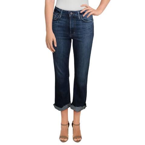 Joe's Womens Boot Cut Jeans High Rise Frayed Hem - LA Jolla