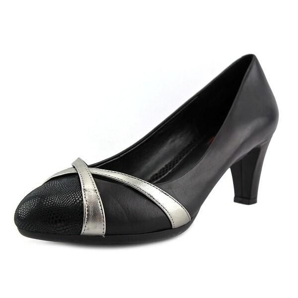 Easy Spirit Nerissa Women Round Toe Leather Black Heels