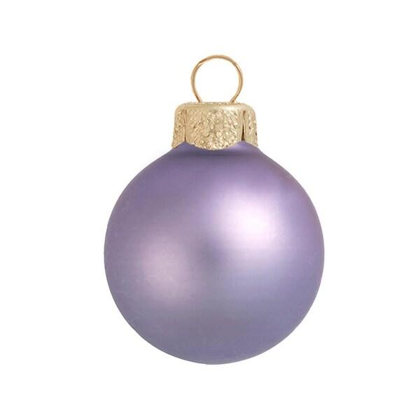 "2ct Matte Lavender Purple Glass Ball Christmas Ornaments 6"" (150mm)"
