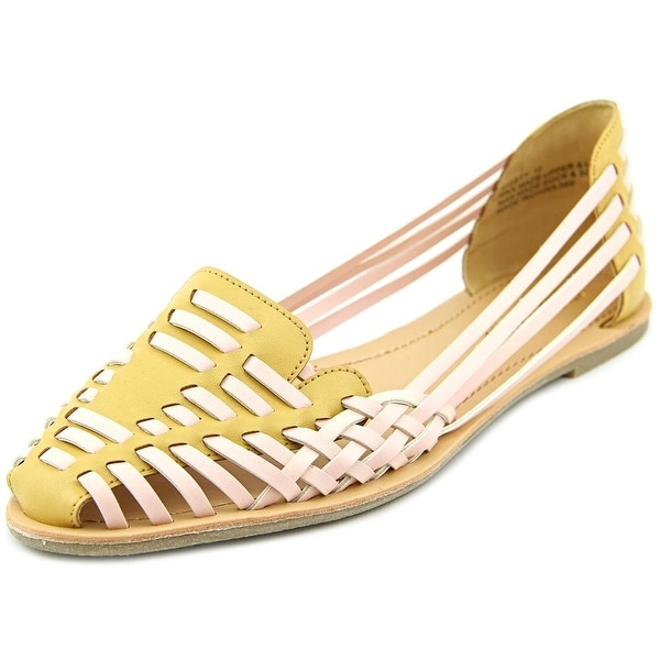 Kendall & Kylie by Madden Girl Rigbyy Women Round Toe Synthetic Pink Flats
