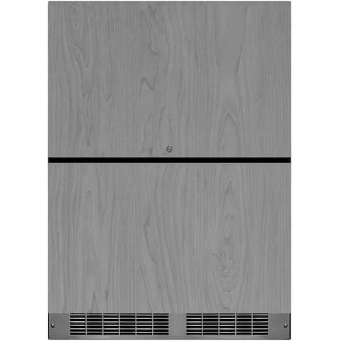 """Marvel MP24RD3N 24"""" Wide 5 Cu. Ft. 108-Can Built-In Refrigerated Drawers with LED Lighting and Stainless Steel Drawers"""
