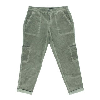 DKNY Jeans Womens Cropped Pants Faded Cuffed