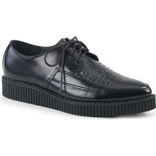Demonia Men's Creeper 712 Lace-Up Black Leather