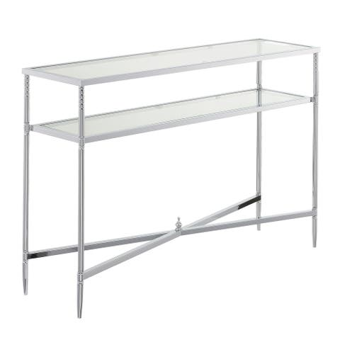 Silver Orchid Dynasty Console Table
