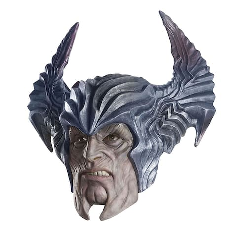 Justice League Steppenwolf Overhead Latex Mask Adult Costume Accessory - Silver