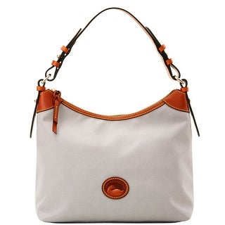 Dooney & Bourke Nylon Large Erica (Introduced by Dooney & Bourke at $149 in Nov 2016) - Light Grey