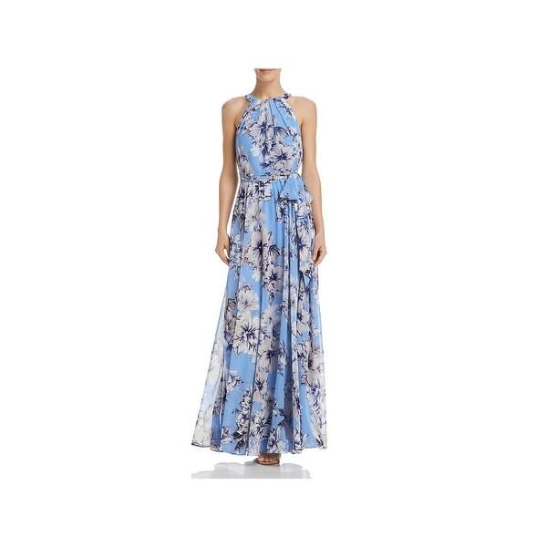 Eliza J Womens Maxi Dress Floral Print Halter - 4