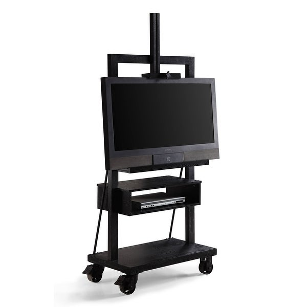 Posh Pollen Cullen Black 3-Tier Entertainment TV Media Stand. Opens flyout.