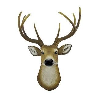 Lifelike Faux 8 Point Buck Deer Head Bust Wall Mount Hanging 23 inch
