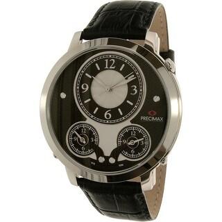 Precimax Men's Roosevelt PX16002 Brown Leather Japanese Quartz Dress Watch