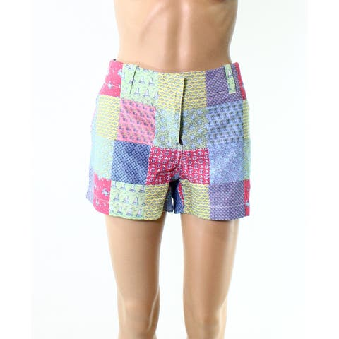 Vineyard Vines Blue Womens Size 6 Patchwork Cotton Printed Shorts