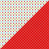 """Jolly Christmas Double-Sided Cardstock 12""""X12""""-#2 Multi Color Trees/Diamond Grid"""