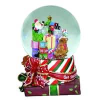 """7"""" Santa Claus's Toy Land with Holiday Presents Christmas Glitterdome Figure"""