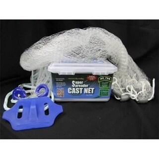 RS750 White Nylon Super Spreader Cast Net 3 x3/8 mesh