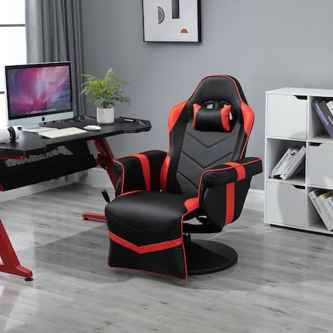 Vinsetto Home Comfortable Office Video Game Sofa Swivel Chair with a Strong Ergonomic Design & Quality Material