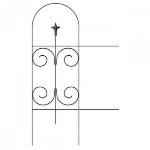 """PanaceaA¢ 89373 Folding Fence with Finial, Black, 32"""" x 8'"""