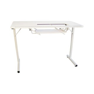 Sewingrite Crafts Foldable Sewing Hobby Table - White