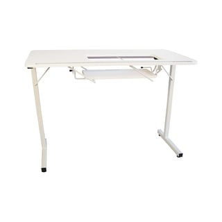 Sewingrite Crafts Foldable Sewing Hobby Table   White