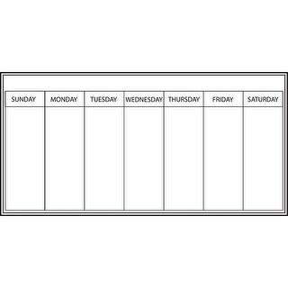 Brewster WP0540 Weekly Whiteboard Dry Erase Calendar Message Board Set