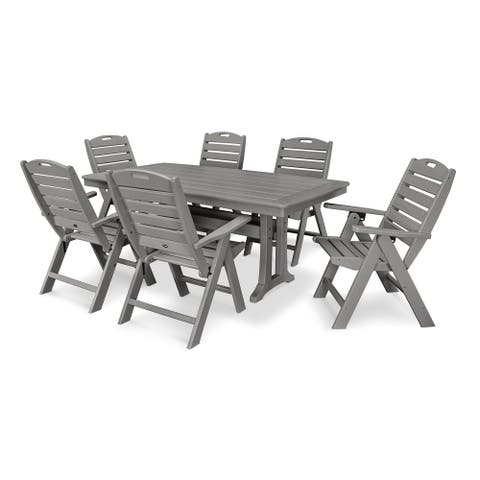 POLYWOOD Nautical 7-piece Outdoor Dining Set