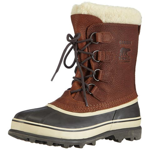 SOREL Womens Joan of Artic Leather Cap Toe Mid-Calf Cold Weather Boots
