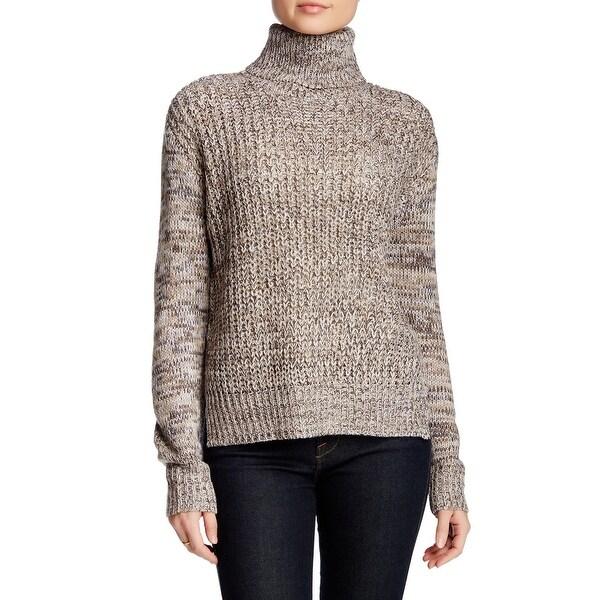 Cotton Emporium NEW Beige Women's Size Large L Knit Turtleneck Sweater