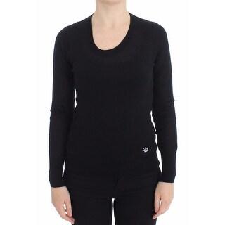Dolce & Gabbana Dolce & Gabbana Black Crewneck Sweater Pullover Top