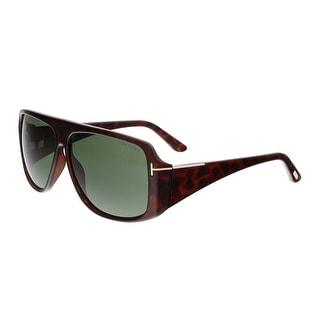 Tom Ford FT0433 52N HARLEY Dark Havana Rectangular Sunglasses - dark havana