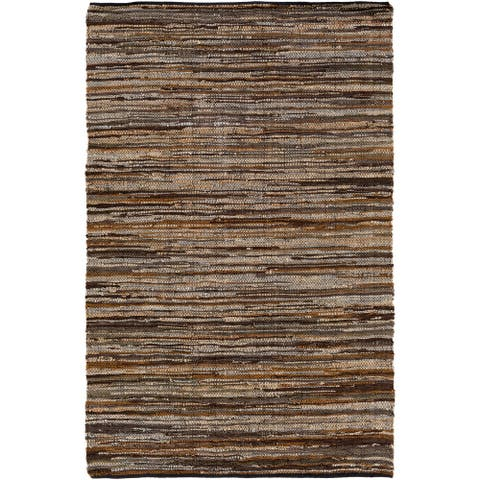Carbon Loft Fuller Hand Woven Leather/Cotton Area Rug - 8' x 10'