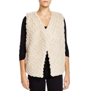 BB Dakota Womens Casual Vest Faux Fur Open Front