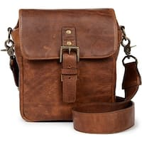"ONA ""Bond Street"" Classic Leather Camera Messenger Bag (Antique Cognac Brown)"