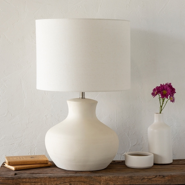 chic lampshade bedside table lamp drum lampshade red lamp White wood lamp with floral red white lampshade lamp for girl