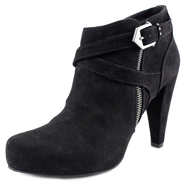 G By Guess Taylin 2 Women  Round Toe Suede Black Bootie
