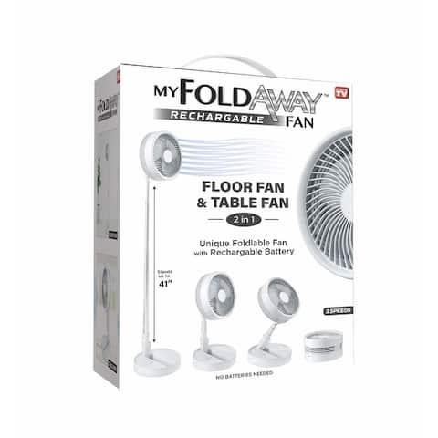 MyFoldaway Fan-Rechargeable Foldable Fan-Wireless and Portable