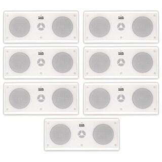 Acoustic Audio AA35CW Indoor 3 Way Speakers 2800W White 7 Speaker Set AA35CW-7S