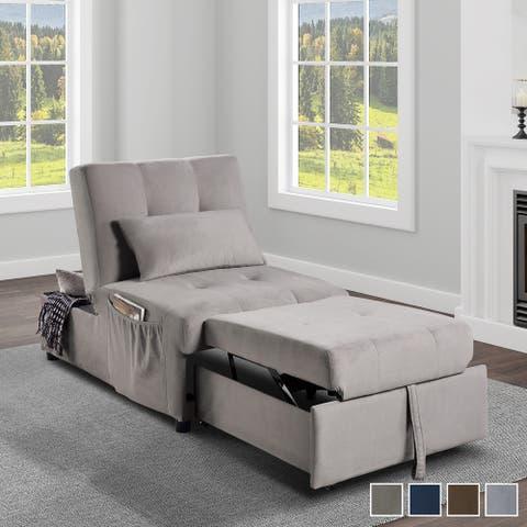 Daria 4-in-1 Convertible Futon Lounge Chair