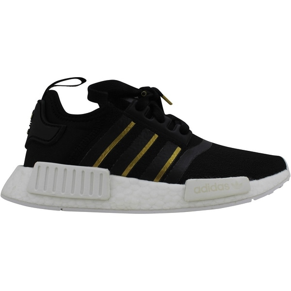Adidas NMD R1 Core Black/Gold Metallic-Crystal White FW6433 Women's. Opens flyout.