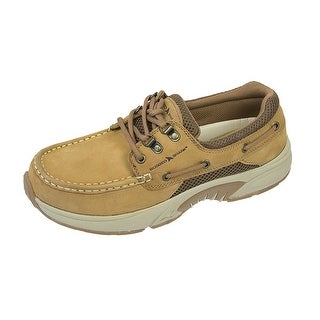 Rugged Shark Men's Atlantic Oxford Boat Shoes - copper