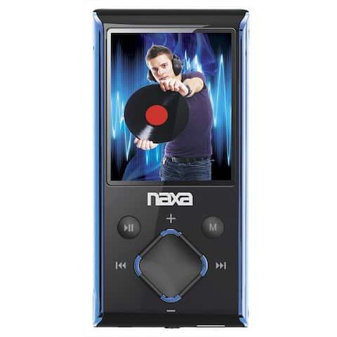 "Naxa Portable 8GB Media Player with 1.8"" LCD Screen- Blue"