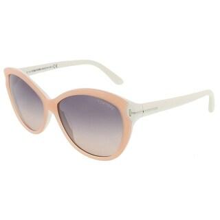Tom Ford FT0325/S 74B Telma Light Pink Cateye Sunglasses